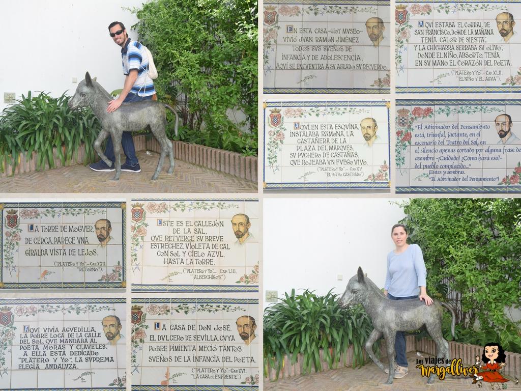 Azulejos de Platero y yo en Moguer - Los viajes de Margalliver